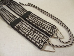 Weaving belt black and white back side
