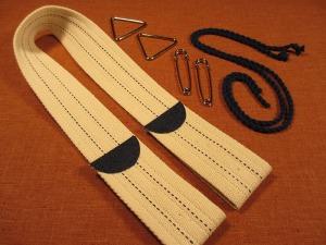Weaving belt adjustable size cotton webbing materials